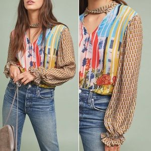 Anthro Conditions Apply Retro Peasant Blouse